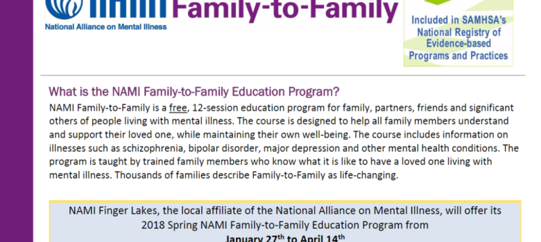 Spring 2018 Family to Family Education Program